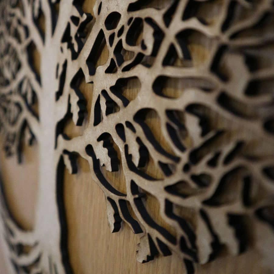 Árbol de la vida cortado en MDF de 3mm