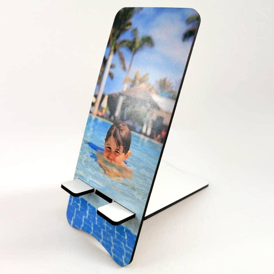 Soporte móvil cortado en MDF de 3mm y personalizable con foto